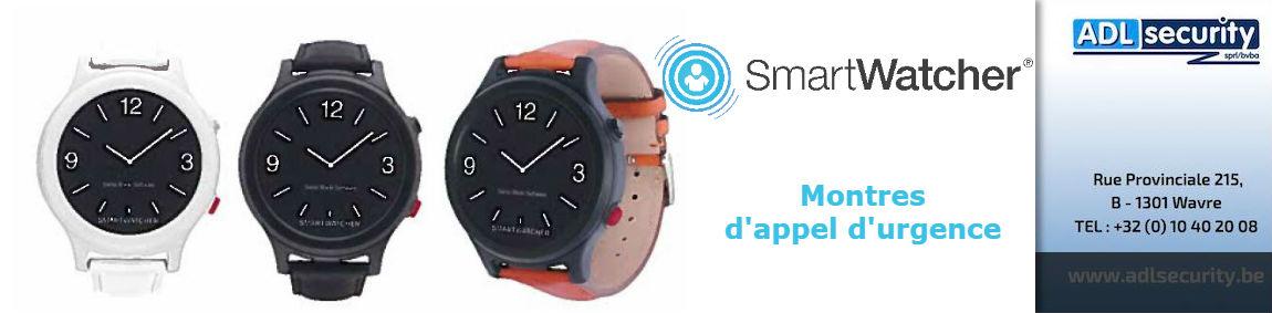 Les nouvelles montres d'appel d'urgence SmartWatcher